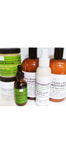 ORGANIC BLISS HAIR CARE SET 6 in 1 WITH HAIR POMADE