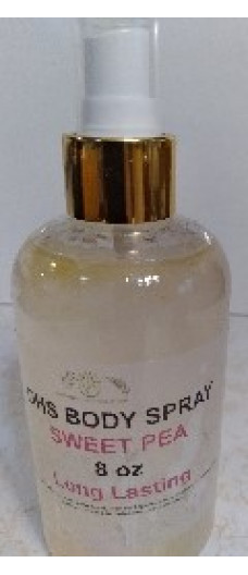 BODY SPRAY WITH  SWEET PEA  SCENT