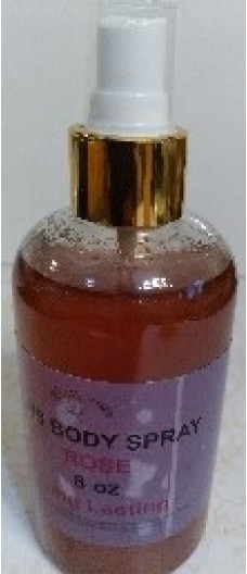 BODY SPRAY WITH ROSE SCENT